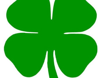 4 LEAF CLOVER  Vinyl Decal Sticker Laptop  Ipod Ipad Choose Size and Color