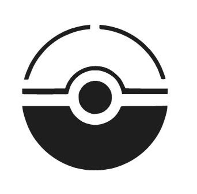 Pokemon Go Pokeball Logo Vinyl Decal Sticker Car Window Laptop Etsy