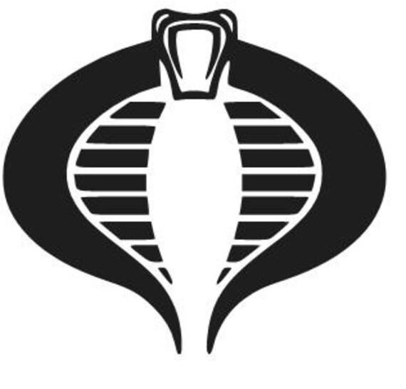 Cobra Commandant Logo Vinyl Decal Sticker Auto Venster Laptop Etsy