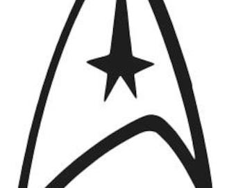 star trek logo etsy rh etsy com star trek emblem vector star trek free vector