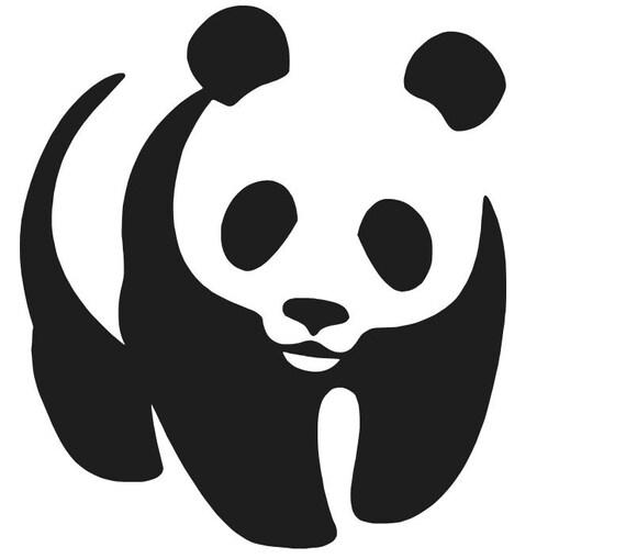 "Cute Panda  Vinyl Decal /""Sticker/"" For Car or Truck Windows Laptops etc"
