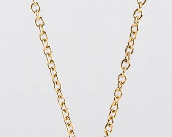 Gold Rolo Chain 14k Solid Gold, White Gold Chain Necklace, Yellow Gold Chain, Rose Gold Chain, Simple Gold Chain 1.7mm, Berman Designers