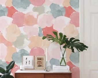 Abstract painting Selfadhesive Wallpaper   Watercolor Wallpaper    Peel and Stick Wallpaper   Removable Wallpaper   Polka dot Wall Mural J26