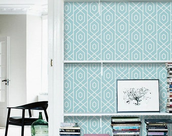 Self Adhesive Vinyl Temporary Removable Wallpaper Wall Decal Geometric Pattern 013