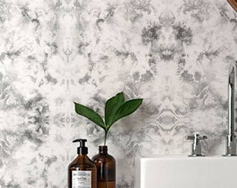 WHISPER  Marble Wallpaper/ Removable Wallpaper/ Self-adhesive Wallpaper / Marble Pattern Wall Covering - 002