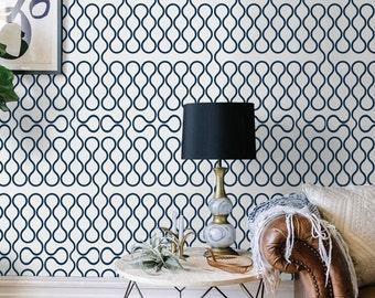 Geometric Self adhesive vinyl temporary removable wallpaper, wall decal - Wallpaper print pattern - 111