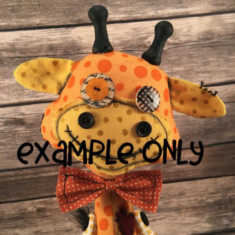 Voodoo Giraffe Giraffe Art Doll Custom Giraffe Baby Shower Gift Keepsake for Child Giraffe Plush Shelf Sitting Giraffe