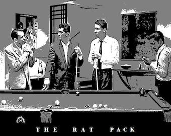 Rat Pack Print Etsy