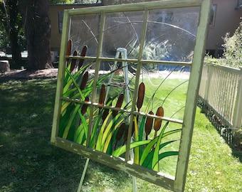 Custom stained glass decorative window