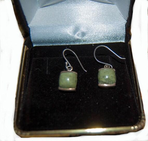 Beautiful vintage jade earrings