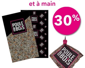 MÉGA promo 30% Duo serviettes de plage et à main POULE des Bois