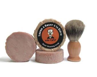 Handmade Beer shaving soap Vire-Capot  90g  and shaving brush  badger- for him