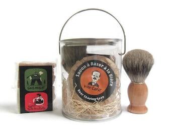 Beer Shaving soap Gift set-