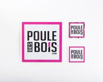 Sticker for car or window Poule des Bois