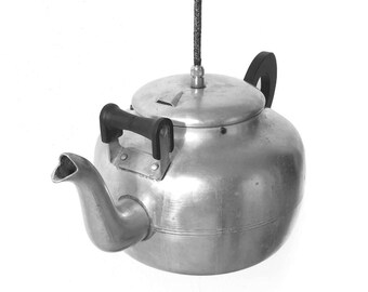 Pendant lighting, Kettle Lamp, Kitchen Lighting, Ceiling Lamp, Lighting Fixture, Vintage home decor, Vintage teapot lamp, Hanging lighting