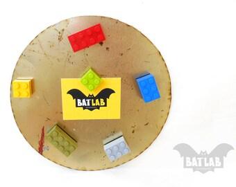 Lego Magnets Set of 3 - Fridge magnets - Kitchen magnets - Color brick magnets - Colorful LEGO bricks - Cool magnets - Refrigerator magnet