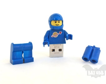 Lego minifigure usb 8/16/32/64GB - Memory Stick - Lego® original Minifigure - Vintage Benny Classic Blue Spaceman - Lego usb with legs cap
