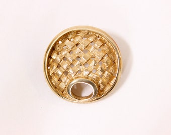 Sarah Coventry Woven Goldtone Circle Brooch, Vintage