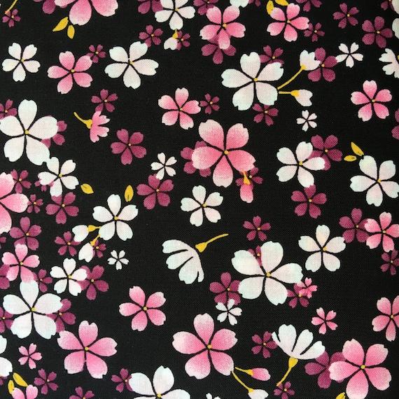 9d38a1742 Half yard Oriental / Japanese / Kimono / Sakura Flowers   Etsy