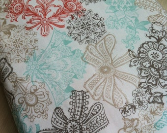Michael Miller Fabric - Wedding Love Lace Bloom in Sorbet