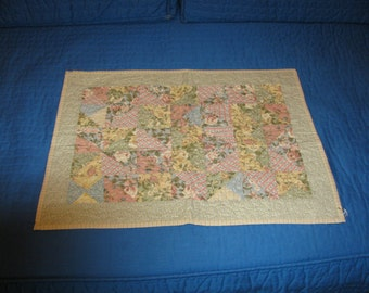 Quilt of the day. This mini table topper, doll quilt, wall hanger is the best value in my shop.