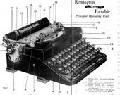 Remington Noiseless 1930s Typewriter Instruction Users Manuals For Portable 1 Noiseless, Deluxe Noiseless 7, Noiseless 9 Desk Model, Model 8
