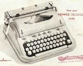 Hermes 3000 Typewriter Users Manual Digital Download Hermes 3000 Instruction Booklet, Hermes 3000 Typewriter User Guide, Hermes Instructions