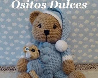 PATTERN: Sleepyhead Bear Amigurumi Pattern  in English and Spanish