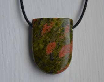 Drilled Bloodstone Pendant