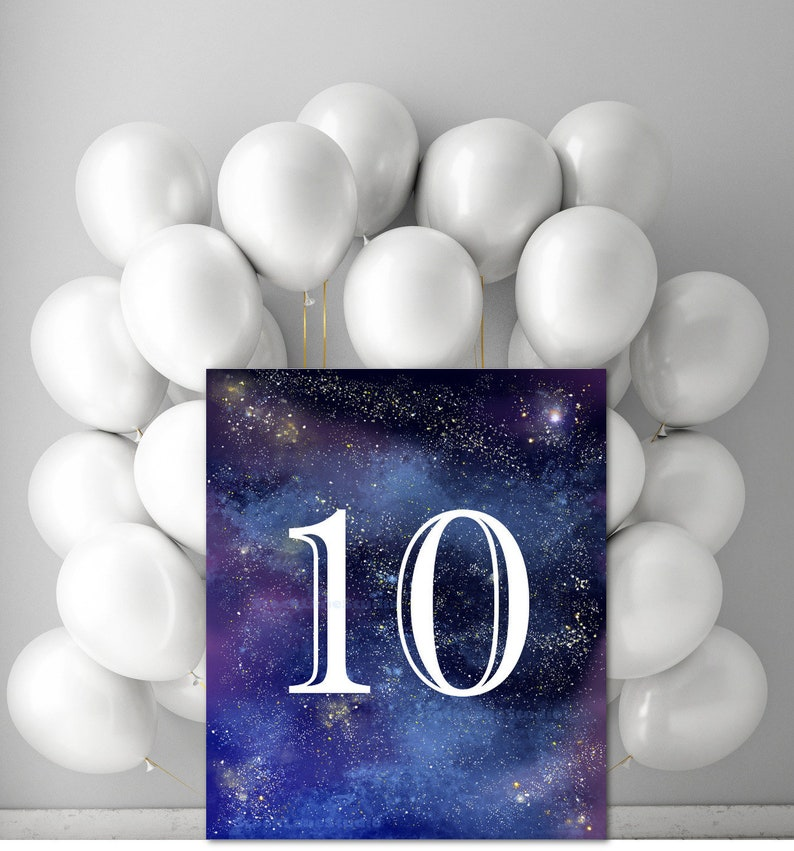 10th Boy Birthday Party Printable Space Decor
