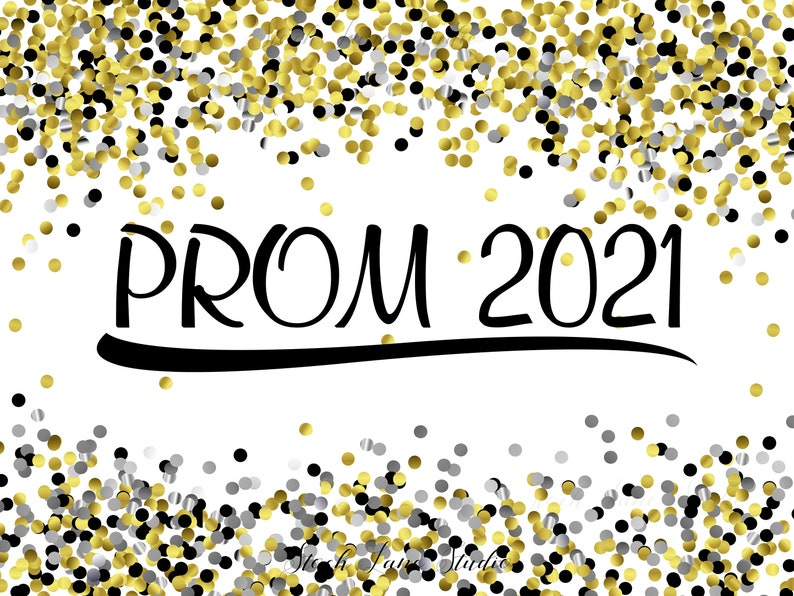 Printable Prom 2021 poster yard sign banner gold silver | Etsy