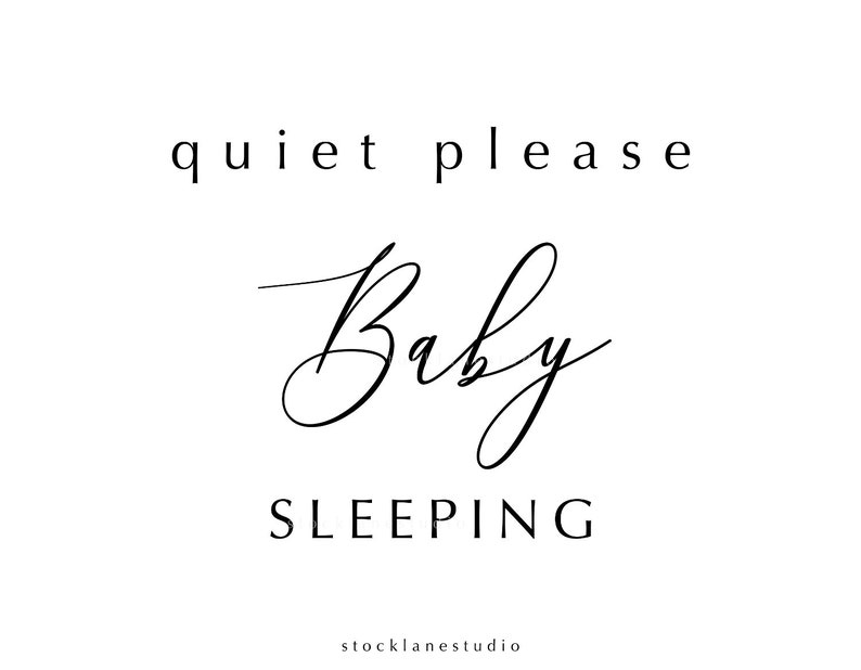 graphic regarding Baby Sleeping Sign Printable named Printable Relaxed Make sure you Kid Sleeping Indicator, do not disturb, little one shower reward, Nursery Doorway Indication, Jpg Pdf 4x6 14x18