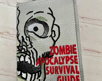 Zombie A6 Notebook Cover, Handy Notebook Case, Leatherette Notebook Cover, Ideal Christmas/Birthday Gift, Zombie Survival Gift, Vegan