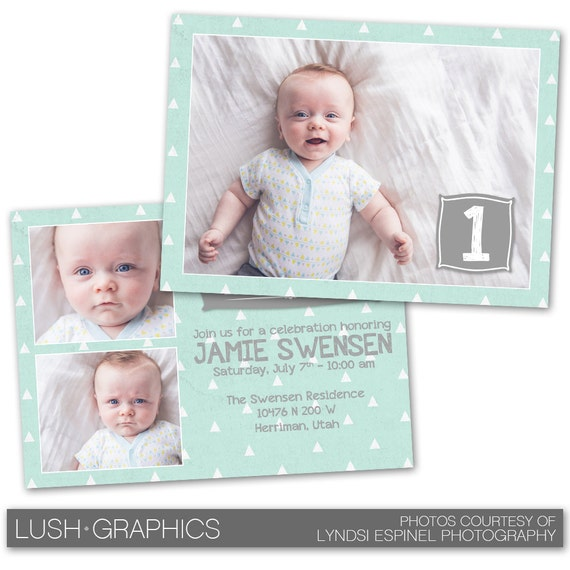 Psd Photoshop Template First Birthday Party Invitation Card Template Bc141