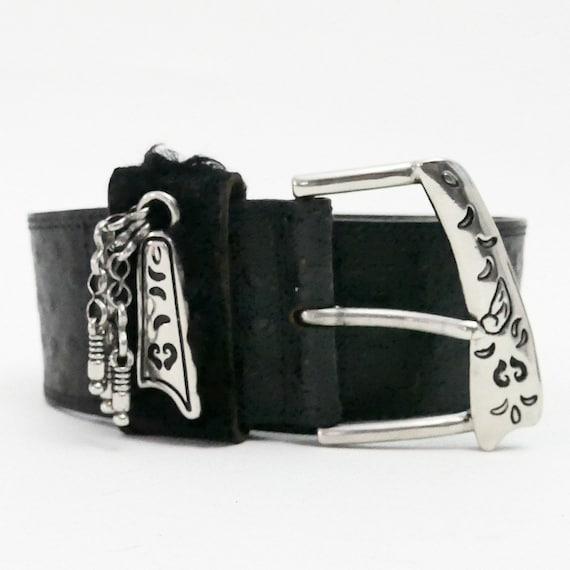 Vintage Doppia Vita Belt Black Ostrich