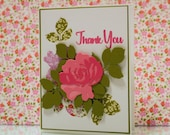 Thank you card. Layered r...
