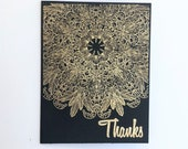 Thank You cards. Gold emb...