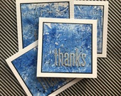 Set of 4 Thank You cards. Mini note card set. Blank note cards