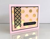 Handmade 3D Wedding cards. Congratulations cards. Gold foiled wedding invitations card