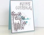 Merry Christmas card. 3D ...