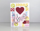 Valentine's Day card. Cute love card for her. Handmade 3D Girlfriend valentines day card