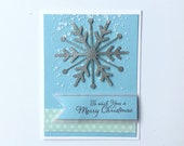 3D Christmas Cards with snowflakes . Christmas stationary gift. Sparkling Snowflake cards with winter scene.