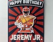 Personalized Power Ranger Card For Kids  Birthday/ handmade 3 D Birthday card