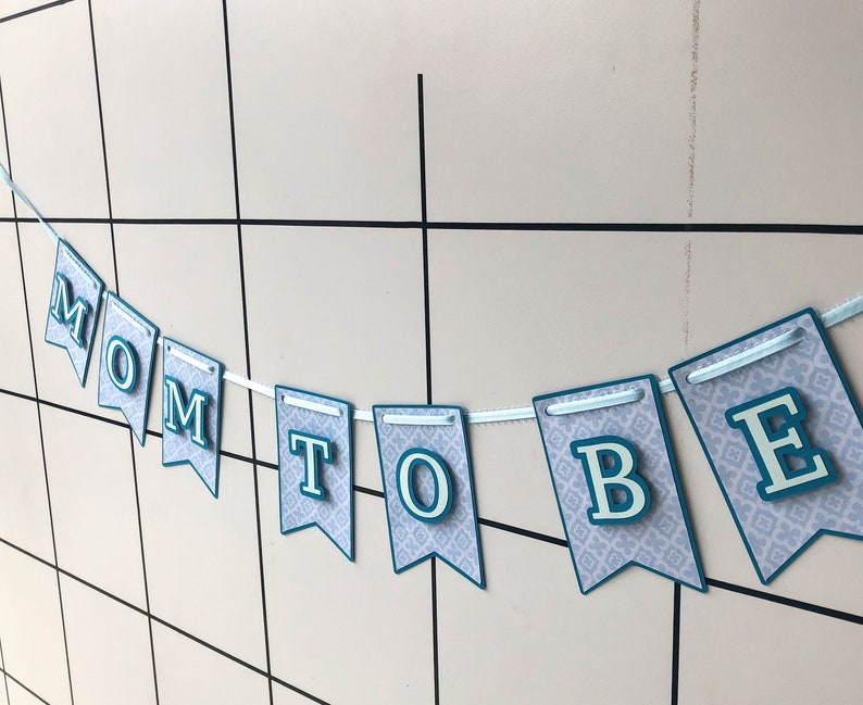 Mom to be banner. Baby shower banner. Party banner. Name image 0