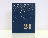 Number birthday card. 21st birthday card. clean and simple number card.