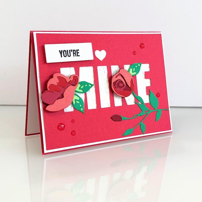 Handmade Valentine's Day Card. 3d Love you girlfriend image 0