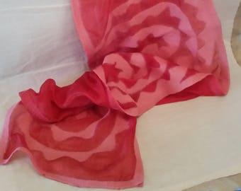 Silk and Merino Wool nuno felted scarf