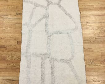 """Hand Felted Wool Rug/Hanging """"The Bull"""""""