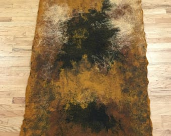 Hand Felted Wool Rug/Hanging