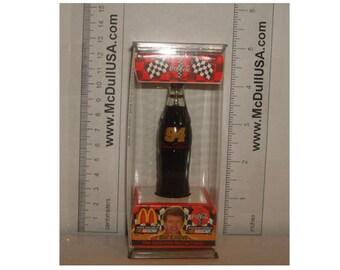 "Coke Coca-Cola McDonald's Mini Miniature 3.5"" Soda Bottle Bill Elliott #94 1999"